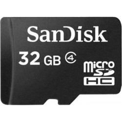 Sandisk micro SDHC 16GB + adapter