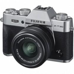 FujiFilm X-T30 srebrny + 15-45mm